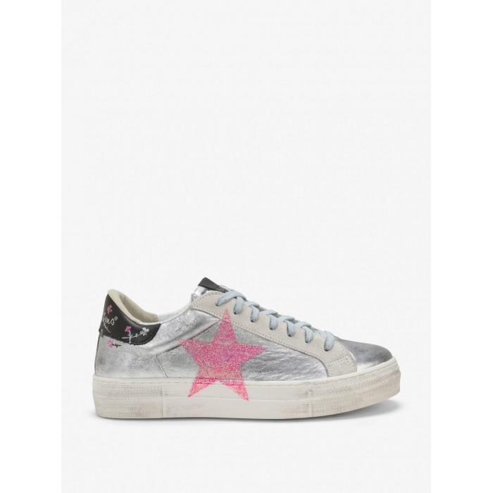 Nira Rubens  sneakers martini silver flowers - stella NIST103