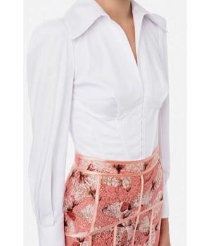 CA30511E2 Elisabetta Franchi camicia rose bianca